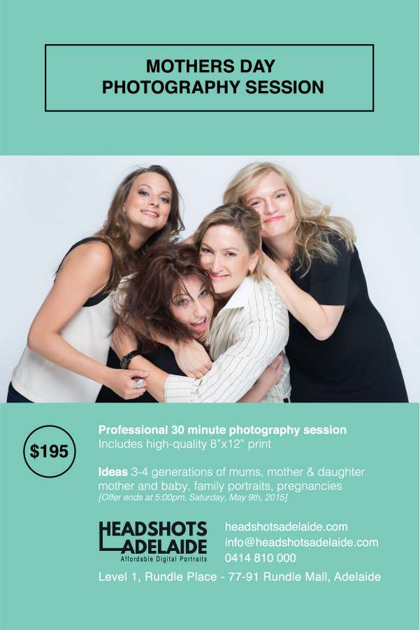 Headshots Adelaide - Mothers Day Flyer
